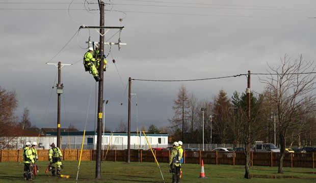 Scottish Power Overhead Lines Training Facility located at our Falkirk Campus